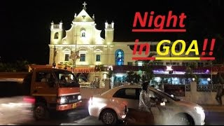 GOA Tourism-GOA Street view-A night in GOA on ROAD with BIKE!!-fun & food unlimited!!