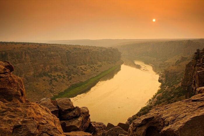 Camping at India's Grand canyon