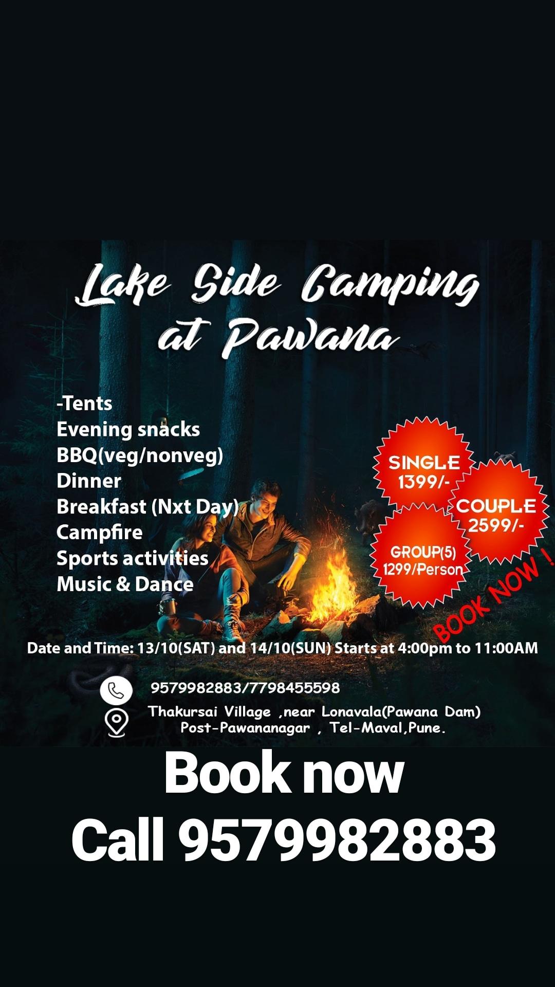 Pawana lakeside camping is the best weekend gateway