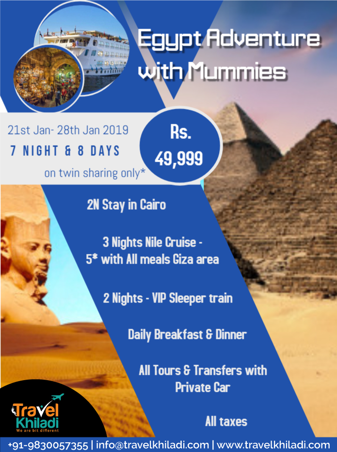 To the Land of Wonders- Egypt - 21st Jan onwards (Last 2 Slots Left)!!