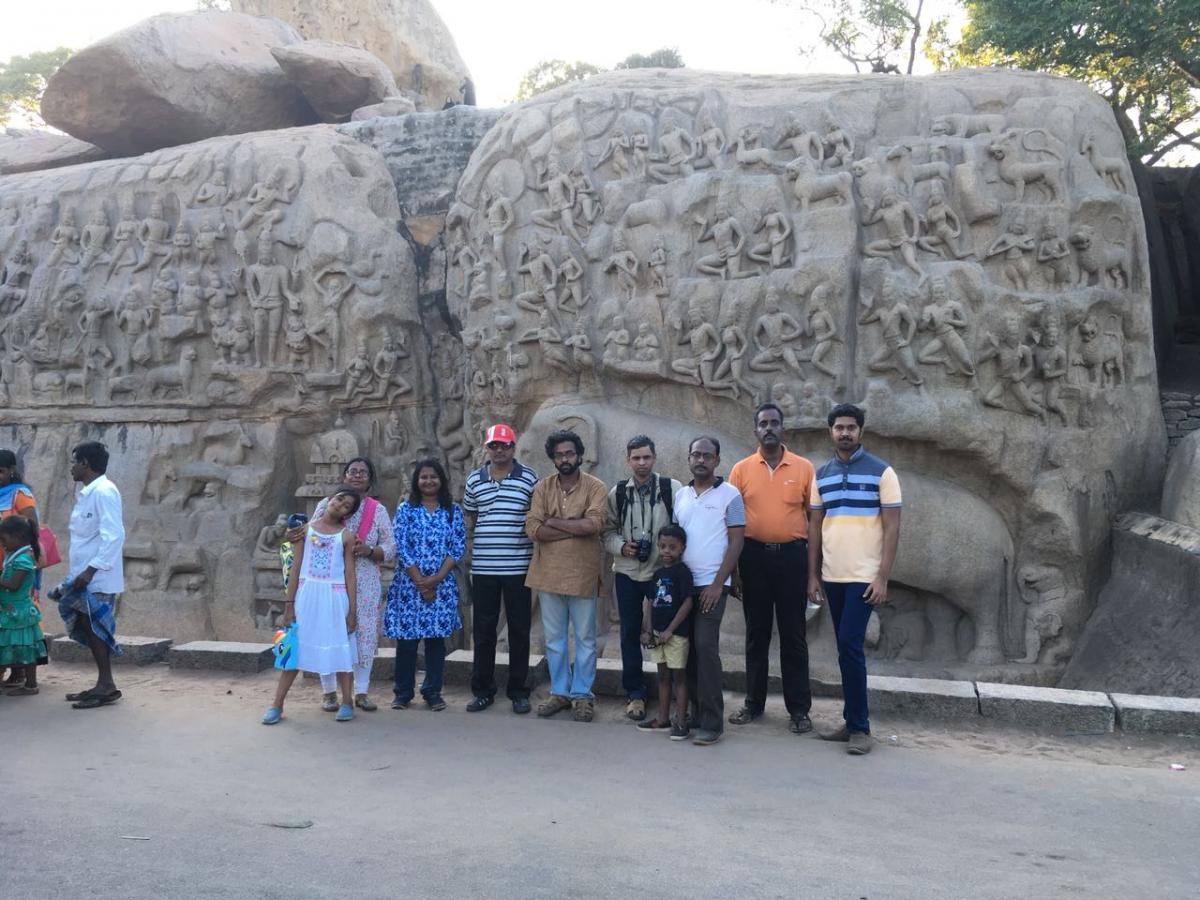 Pallava Trail at Mamallapuram with Archaeologist