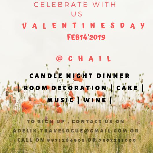 Celebrate Valentine day in a special way@Chail,Himachal Pradesh