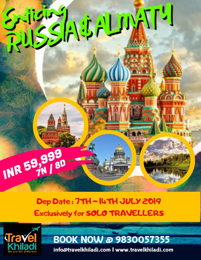 Enticing Russia & Almaty @ INR 59999+ Airfare